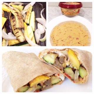 Mediterranean Grilled Veggie Wrap | Jenny Beth RD ...