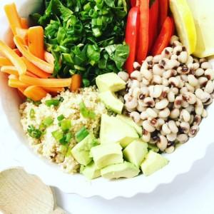 Black Eyed Pea Chopped Salad Bowl